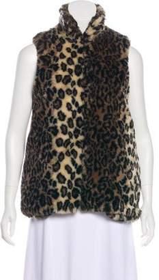 Alice + Olivia Faux Fur Leopard Print Vest