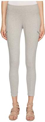 Eileen Fisher Heathered Organic Cotton Jersey Leggings Women's Casual Pants