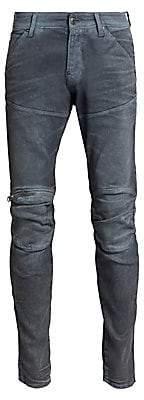 G Star Men's 5620 3D Slim-Fit Zip Knee Jeans