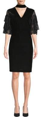 Alexia Admor Plus Lace Choker Sheath Dress