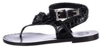 Versace Embossed Leather Medusa Sandals