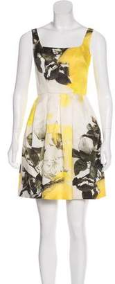 Christopher Kane Floral Print Silk Dress w/ Tags
