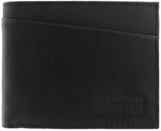 Kenneth Cole Reaction Crimmins RFID Fixed Bi-Fold Leather Passcase