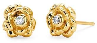 Johnny Was 14K Gold Rosebud Stud Earrings