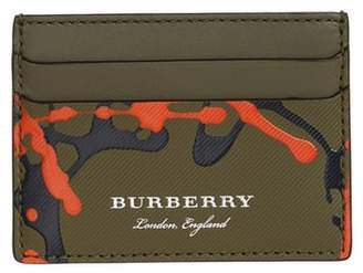 Burberry Trench Splash Leather Card Case