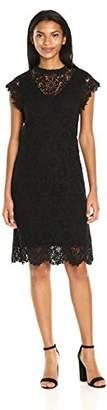 Velvet by Graham & Spencer Women's Lace Capsleeve Dress