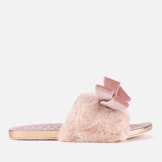 40b32021b Ted Baker Women s Blings Faux Fur Slip-On Slippers - Light Pink