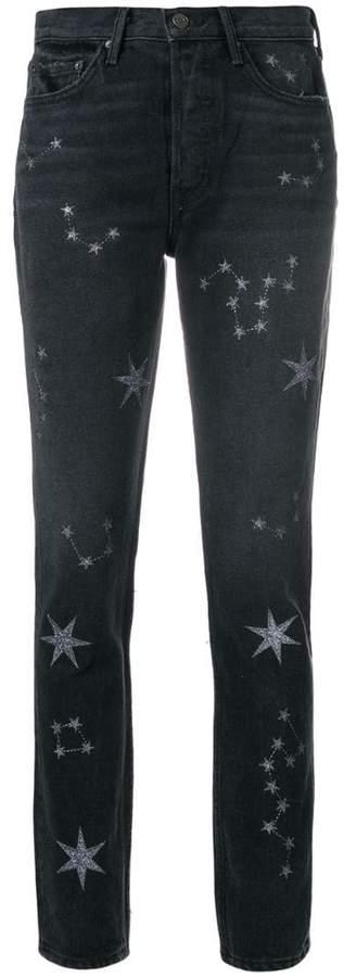 Skinny-Jeans mit Sternenverzierung