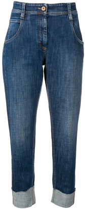 Brunello Cucinelli tapered cropped jeans