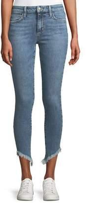 Joe's Jeans Marcela Icon Ankle Skinny Jeans with Diagonal Fray Hem
