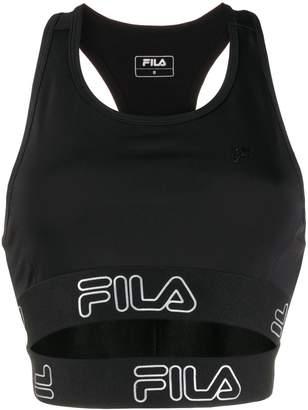 Fila layered tape sports bra
