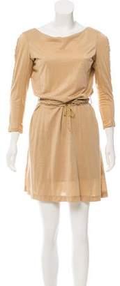 Saint Laurent Long Sleeve Mini Dress
