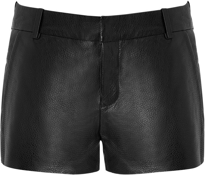 Zadig & Voltaire Leather Short in Black