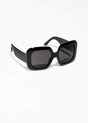 Wide Square Sunglasses