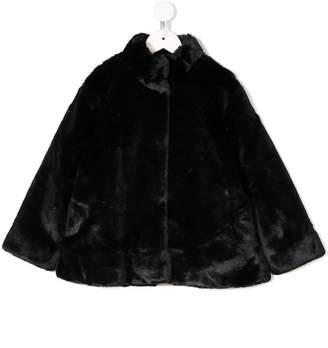 Douuod Kids short faux-fur cape jacket