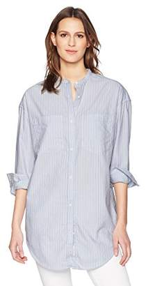 Calvin Klein Jeans Women's Long Sleeve Tunic Mixed Stripe