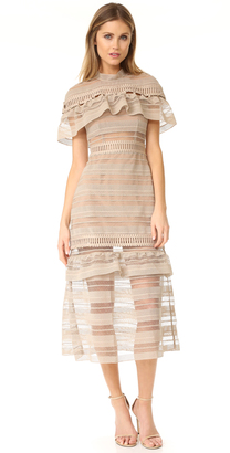 Self Portrait Yoke Frill Midi Dress $595 thestylecure.com