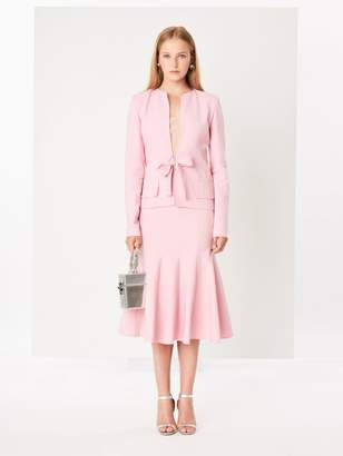 Oscar de la Renta Petal Double-Face Stretch-Wool Jacket