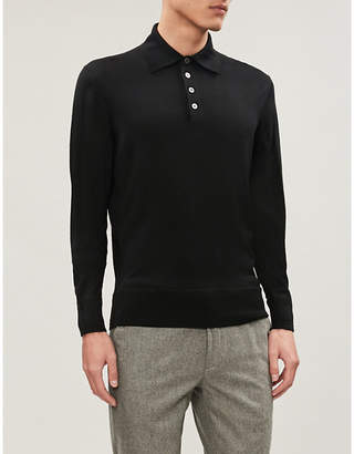 5f2f39fa Long Sleeve Wool Polo Shirt - ShopStyle