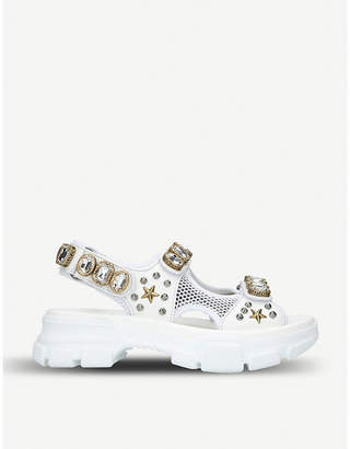 f69fca4aa7d Gucci Crystal Embellished Sandals For Women - ShopStyle Australia