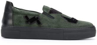 Emporio Armani slip-on patch sneakers