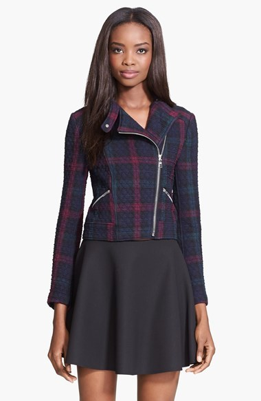 Elizabeth and James 'Patti' Plaid Quilted Moto Jacket