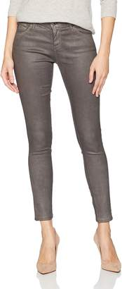 AG Adriano Goldschmied Women's The Legging Ankle Leatherette, Lt-Deep Currant