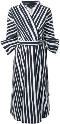 Paule Ka striped wrap dress