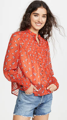 Free People Flowers In December Top
