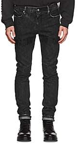 RtA Men's Distressed Skinny Jeans - Gray