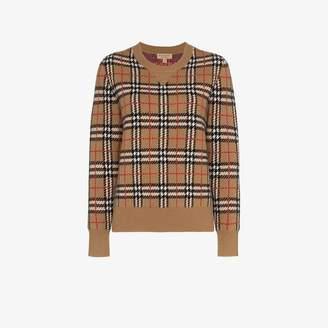 Burberry Vintage Check cashmere jacquard sweater