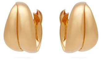 Peter Pilotto Oversized Twisted Hoop Earrings - Womens - Gold