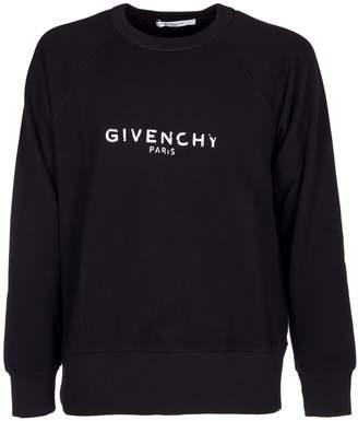 Givenchy Paris Print Cotton Sweatshirt