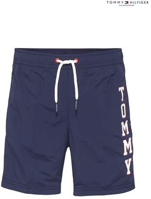 8e9903ed015455 Tommy Hilfiger Boys Boys Branded Blue Swim Shorts - Blue
