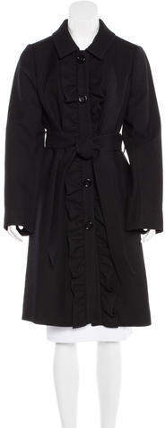 Kate Spade Kate Spade New York Ruffle-Trimmed Wool Coat w/ Tags