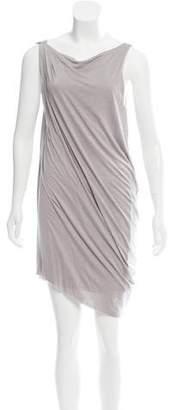 Helmut Lang Sleeveless Draped Knee-Length Dress