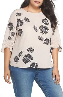 Vince Camuto Chateau Floral Georgette Top