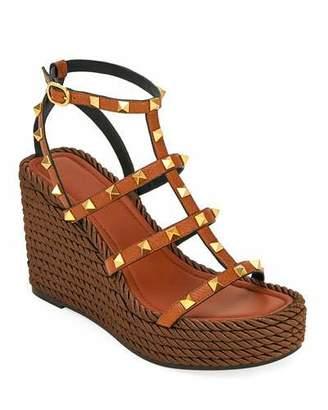 ad900e6c6 Valentino Torchon Rockstud Leather Espadrille Sandals