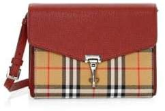 Burberry Small Mackenzie Vintage Check Derby Leather Crossbody Bag