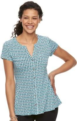 Dana Buchman Women's Peplum Hem Shirt