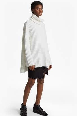 French Connenction Riva Rib Knit High Neck Jumper