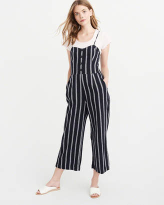 Abercrombie & Fitch Button Cropped Jumpsuit