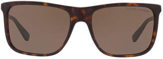 Ralph Lauren Rl8157 58 Black Rectangle Sunglasses