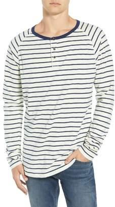 Scotch & Soda Stripe Henley T-Shirt