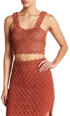 Tularosa Angeli Crochet Knit Scalloped Tank Top