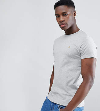 Farah Southall super slim fit logo t-shirt in gray Exclusive at ASOS