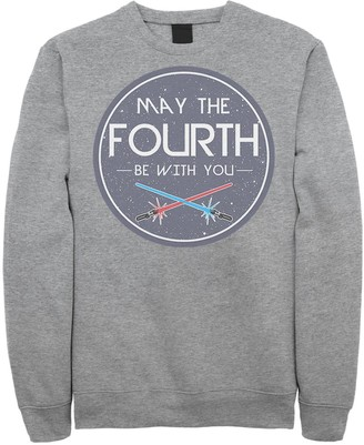 Star Wars Licensed Character Men's May The Fourth Be With You Crest Sweatshirt