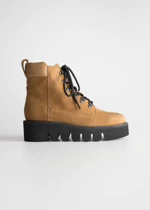 And other stories Lace Up Suede Boots