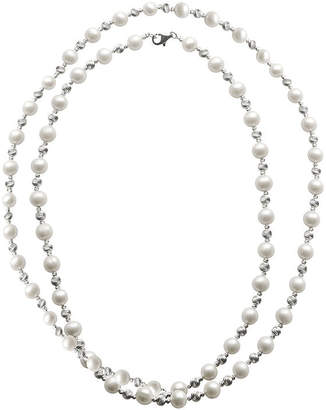 Brilliance+ FINE JEWELRY Cultured Freshwater Pearl & Brilliance Bead Sterling Silver 36 Necklace