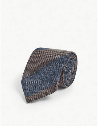 Eton Silk and wool blend tie